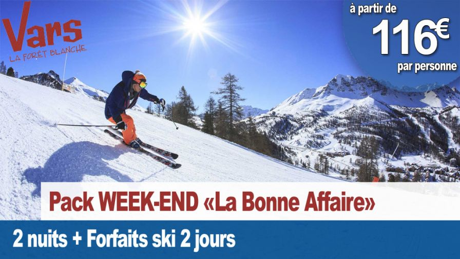 pack week-end la bonne affaire vars 2018