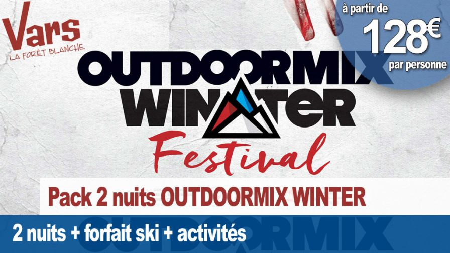 pack week end outdoormix festival vars 2019