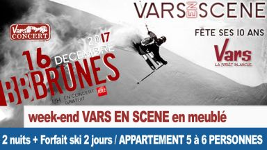 Week end Vars en Scène : Studio ou appartement 5 ou  6 pers. 4 skieurs minimum